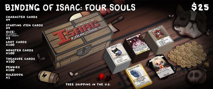 The Binding Of Isaac Four Souls Un Jeu De Cartes Physique Jouable Jusqu à 4