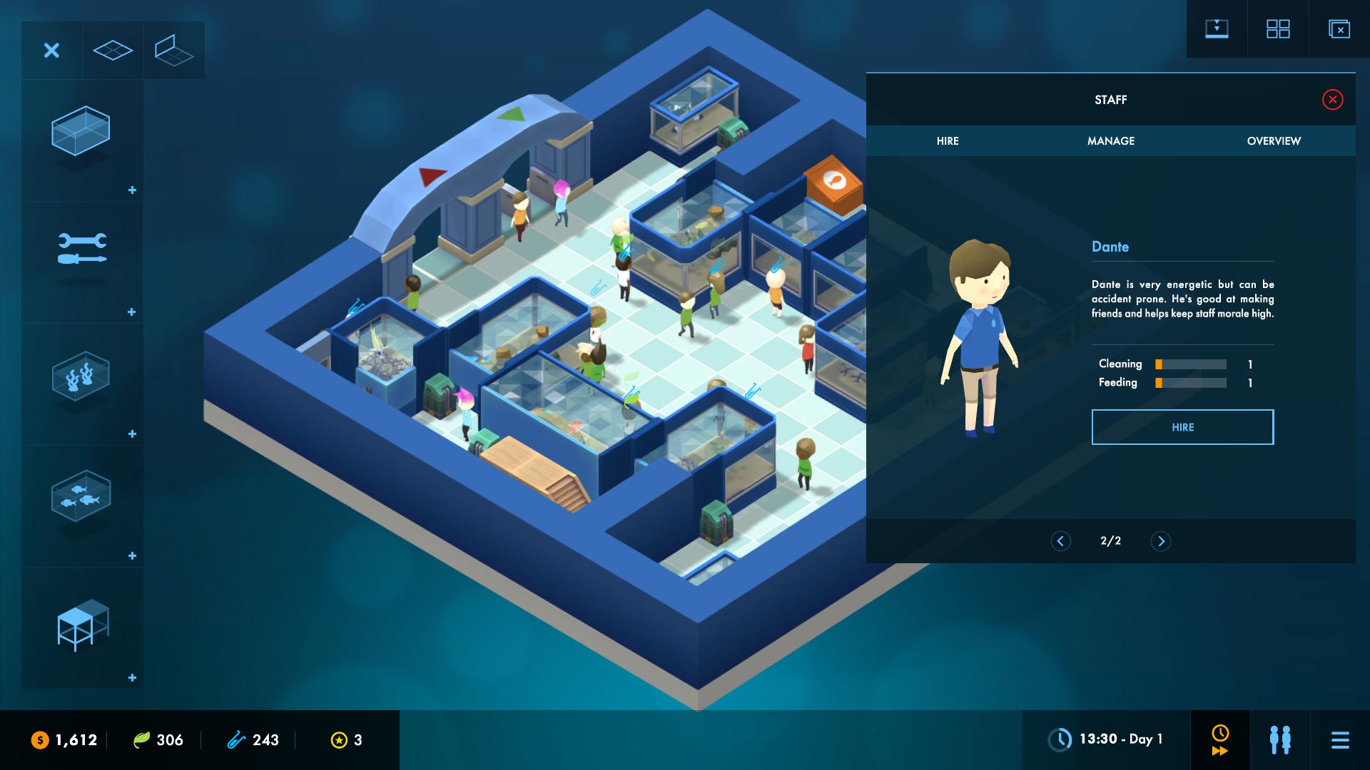 megaquarium  la simulation  u00e9conomique d u0026 39 un aquarium par le