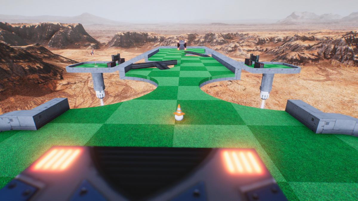 Gameplay - Ballistic Mini Golf, un petit jeu de golf multijoueur